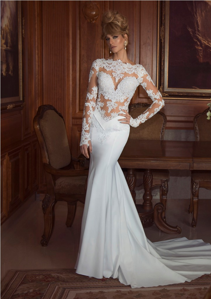 Backless wedding dresses with sleeves for Best wedding dresses with sleeves