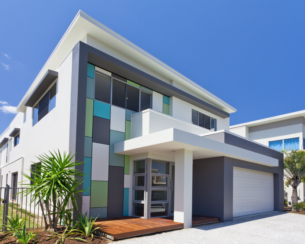 Cool Modern Exterior Painting Designs With White Modern