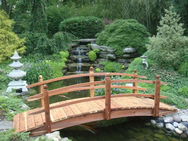 Garden Bridge Solid Wood