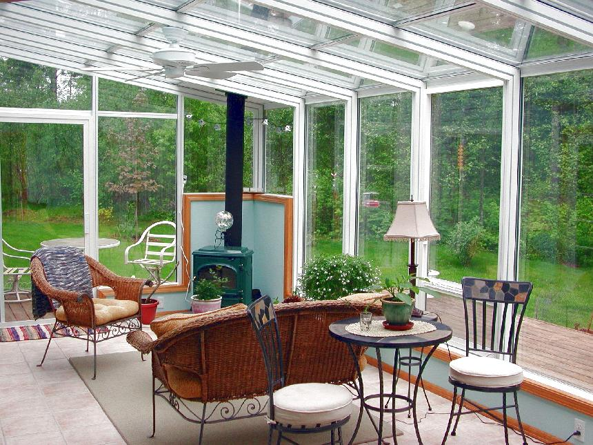 Global Solarium Straight Eave Sunroom