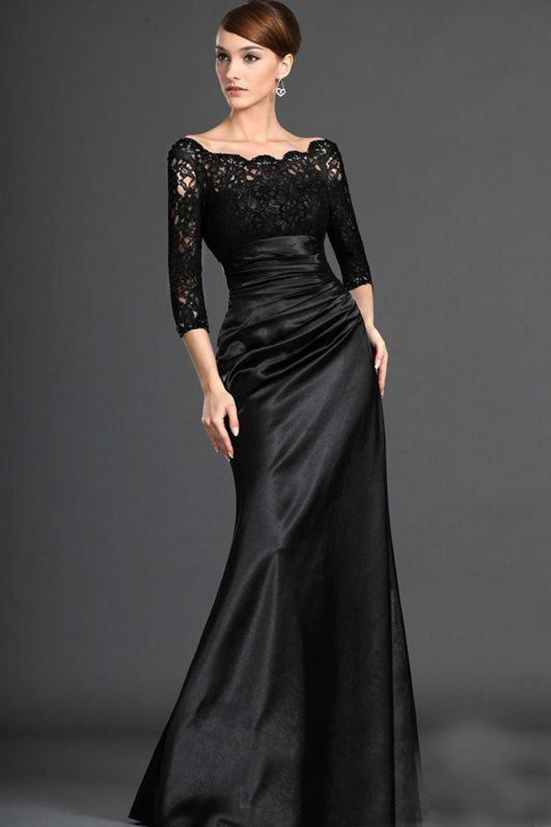 Hot-Sale-Elegant-Lace-Black-Evening-Dresses-2015-Mother-of-the-Bride-Dresses-Evening-Prom-Gown