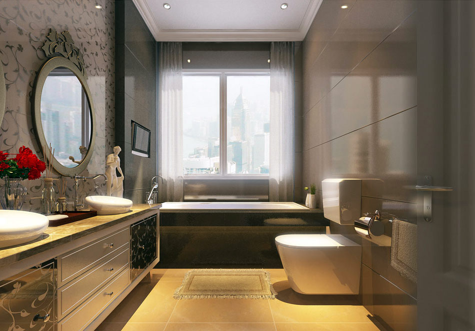 25 modern luxury bathroom designs for Bathroom design luxury