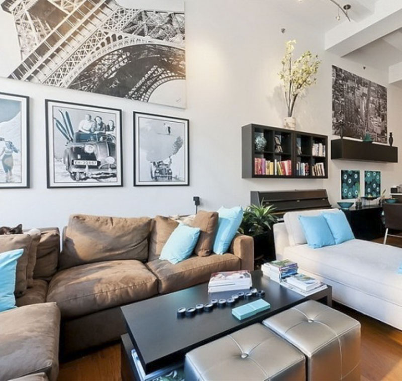 New-Yok-Loft-Apartment-Living-Space-Decor-with-Fresh-Color-Theme