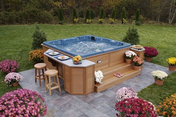 25 awesome hot tub design ideas. Black Bedroom Furniture Sets. Home Design Ideas