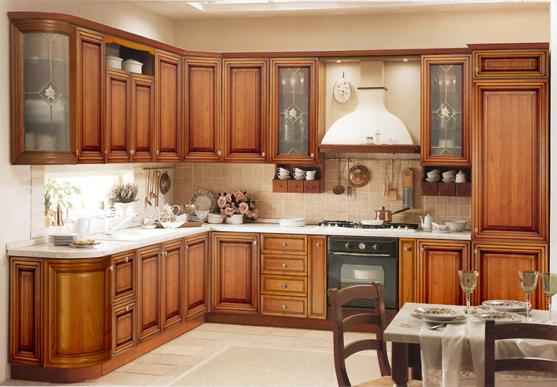 Some Traditional Kitchen Cabinet Decors For Reference