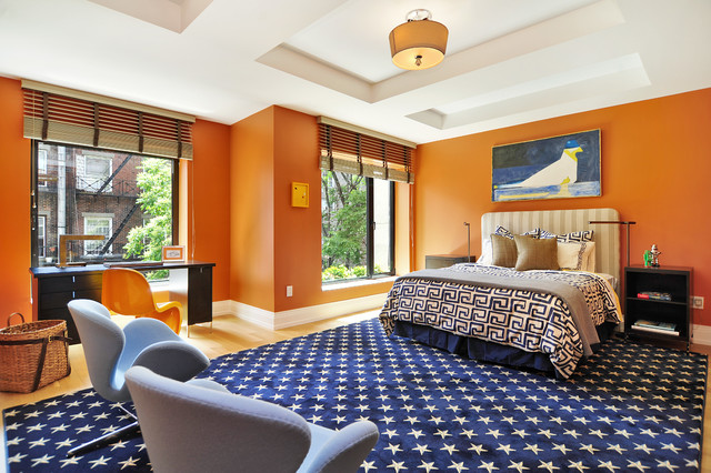 contemporary-bedroom-colorful