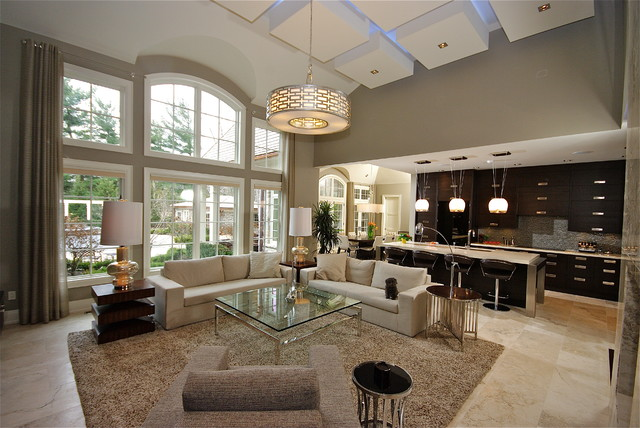 25 open living room design ideas - Open kitchen designs with living room ...