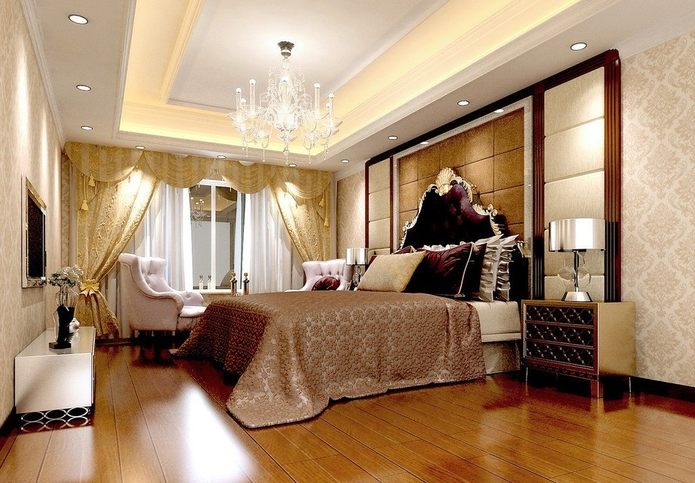 creative-bedroom-lights-decorations-with-wonderful-false-ceiling-and-bamboo-floors-ideas