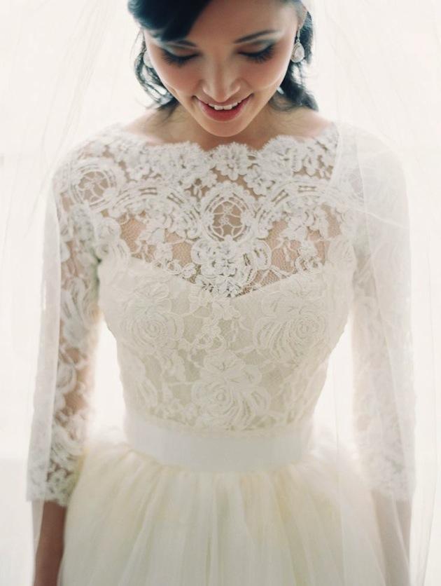 lace-sleeve-wedding-dress-Bridal-Musings