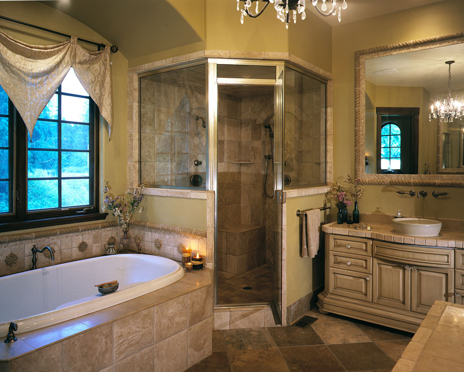 25 master bathroom decorating inspiration for Master bath pictures