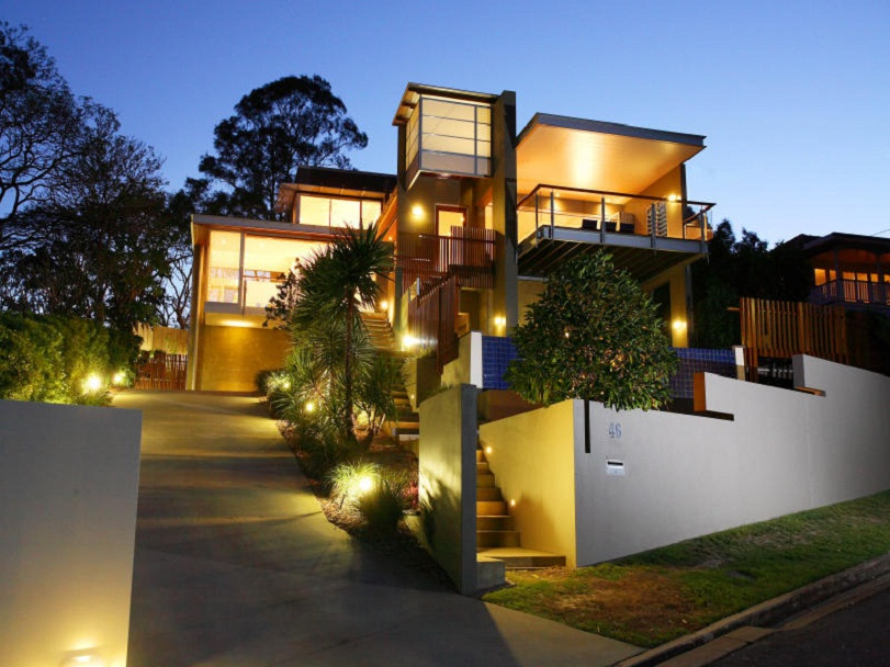 Modern House Exterior Outdoor Lighting Ideas