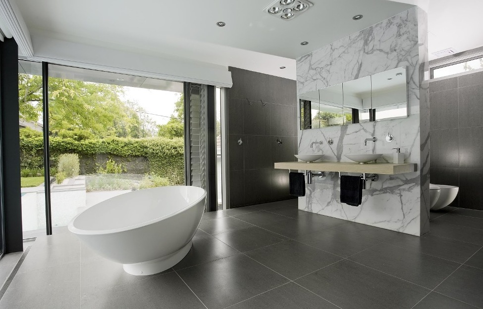25 amazing modern bathroom ideas for Modern bathroom wallpaper