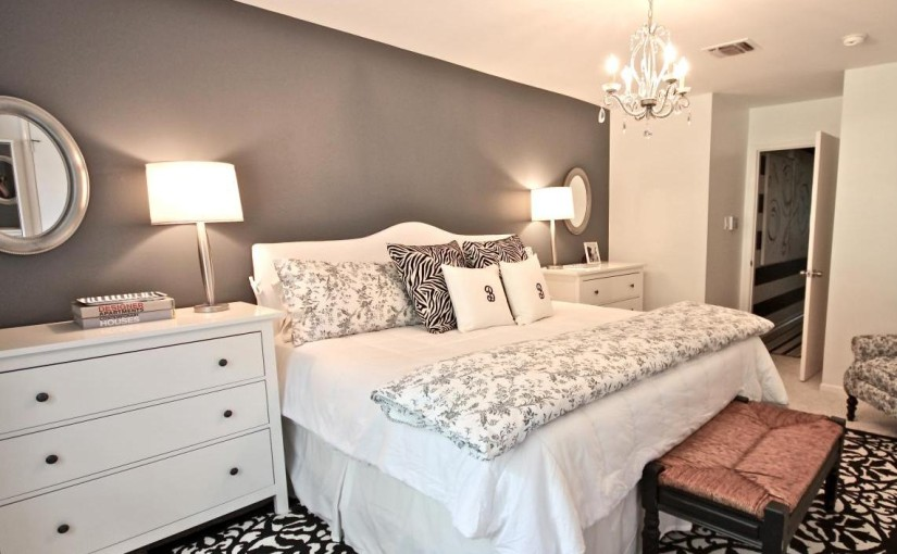 gray and white bedroom. romantic gray white master bedroom 20 Inspirational Bedroom Decorating Ideas