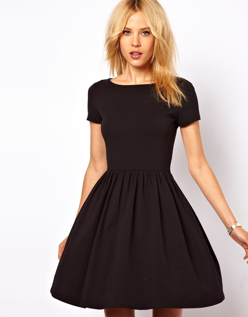 Shop black short sleeve dress at Neiman Marcus, where you will find free shipping on the latest in fashion from top designers.