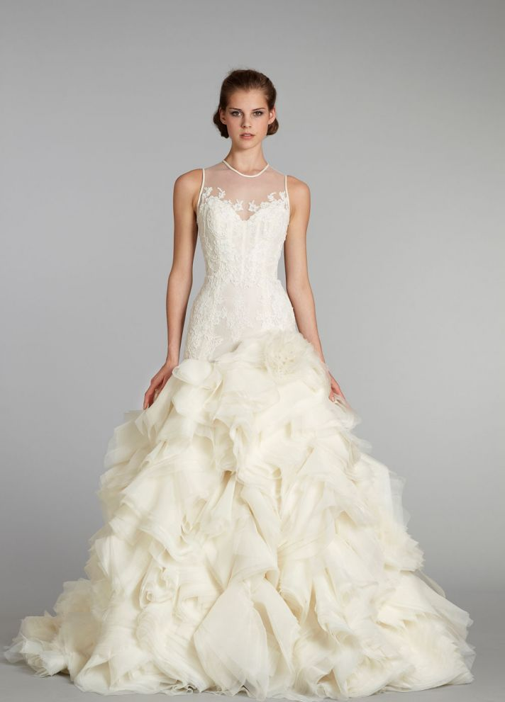wedding dress Lazaro bridal gowns