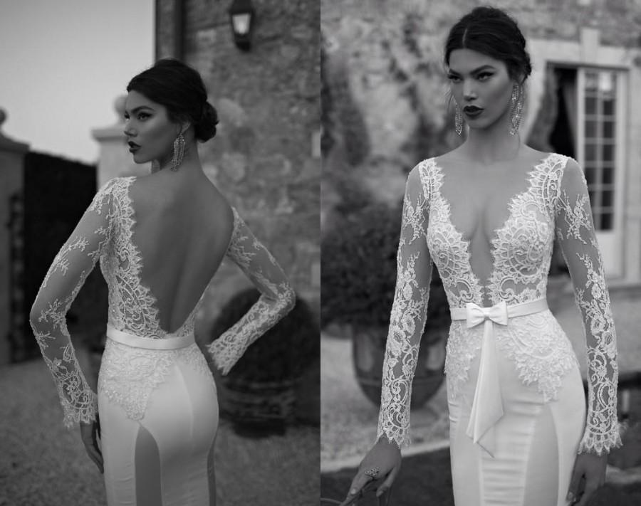 wedding-dresses-deep-v-neck-backless-long-sleeves-lace
