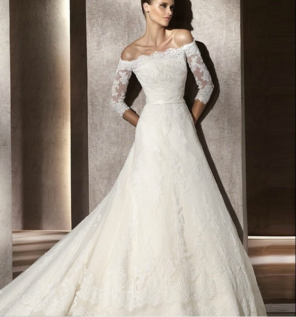 wedding-dresses-with-lace-sleeves