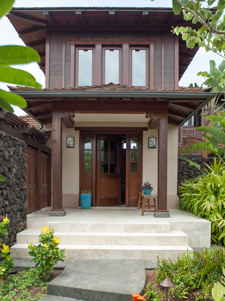 Appealing-Bright-Flowers-home-interior-design-Eclectic-Entry-Hawaii