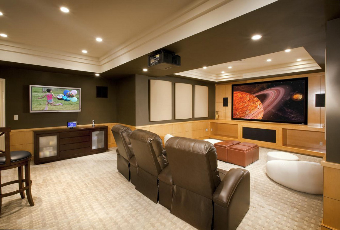 21 beautiful traditional basement designs for Design basement layout free