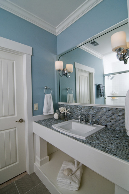Beach Style Bathroom Wonderful With Photos