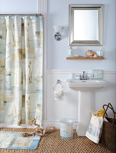 Beach Theme Bathroom Interior Design