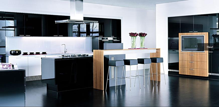 Black-modern-kitchen-design