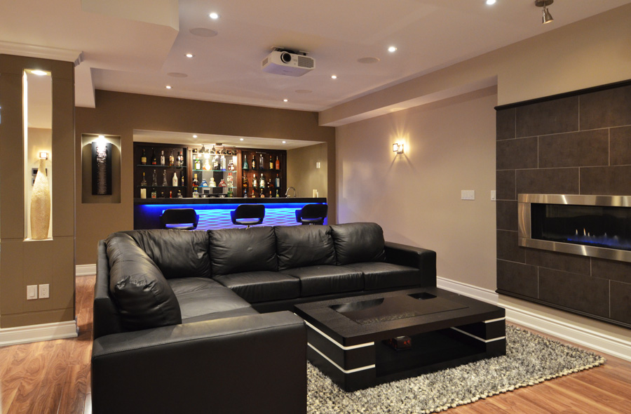 Breathtaking And Modern Basement