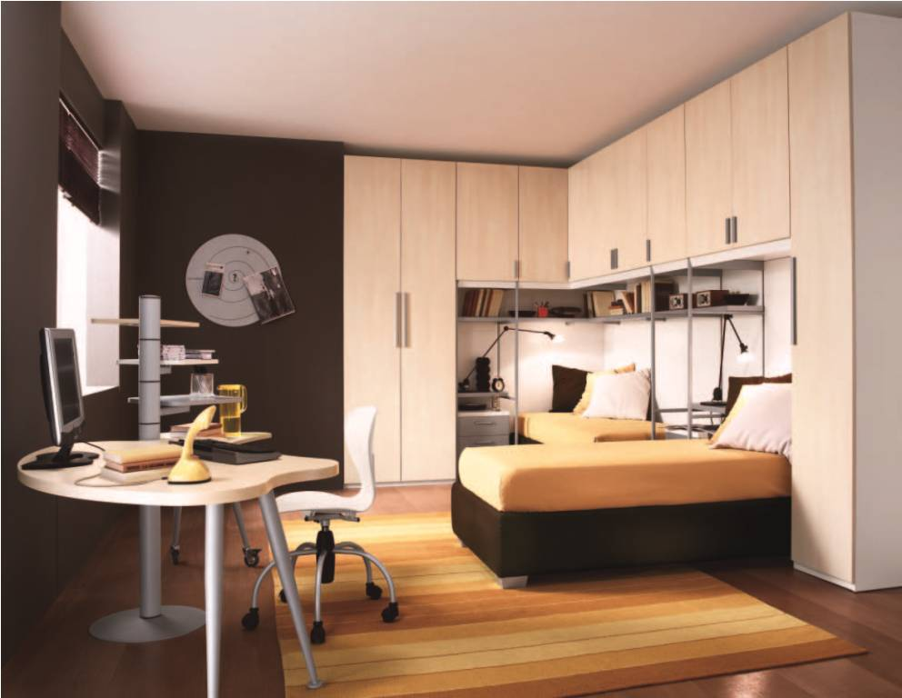 Contemporary Kids Room Interior Design Ideas. Built In Storage In Bedroom