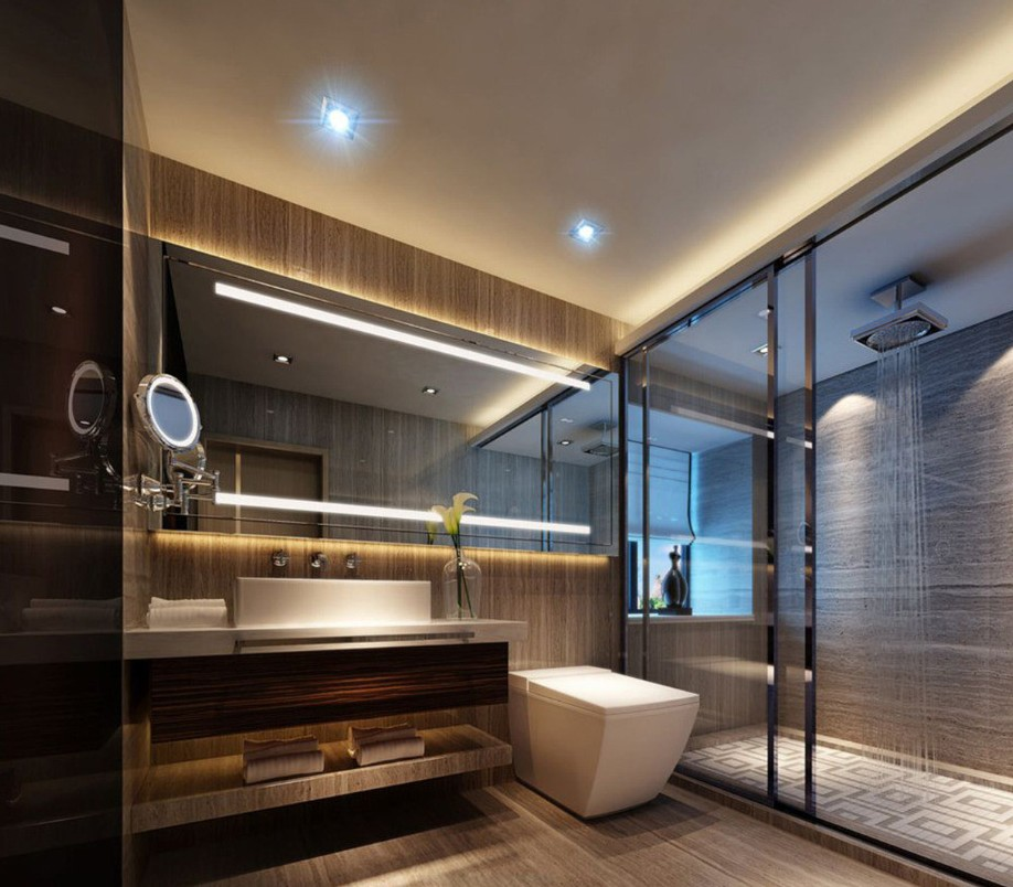 35 best contemporary bathroom design ideas for Restroom design ideas