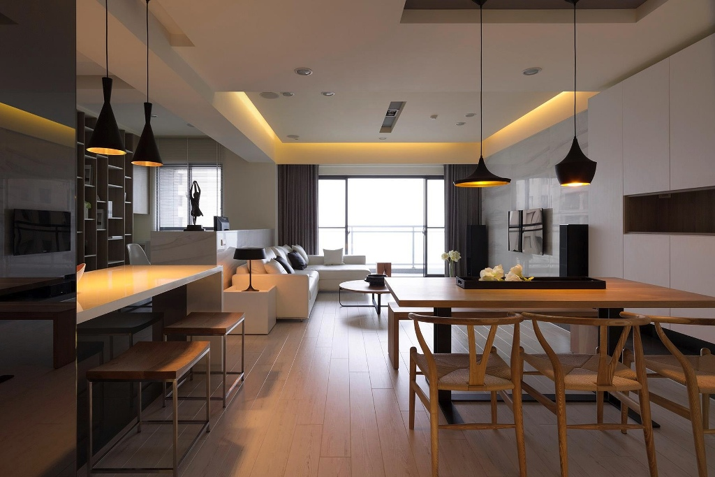 Contemporary-kitchen-diner