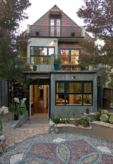 Copper Shingle Facade eclectic-exterior