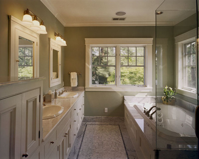 21 stunning craftsman bathroom design ideas for Craftsman mirrors bathroom