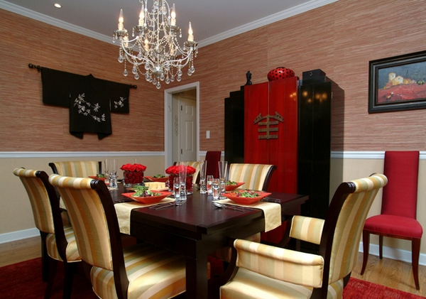 15 beautiful asian dining room ideas for Dining room decor ideas 2015