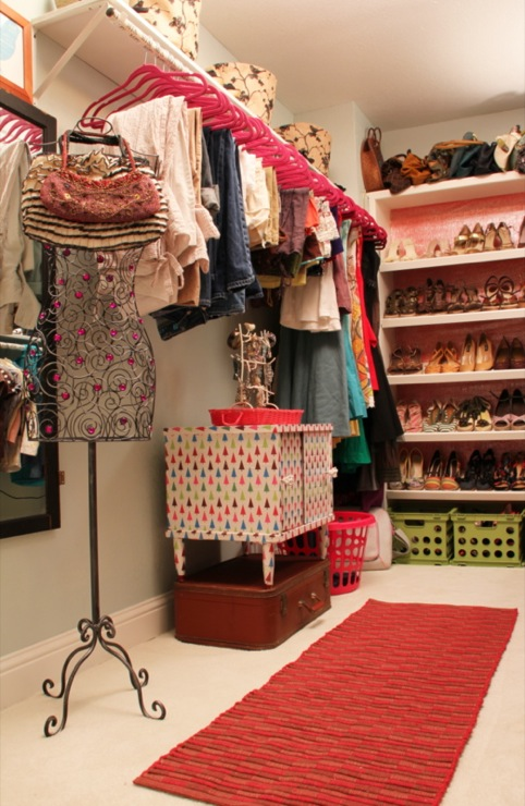 Eclectic Closet Decorating