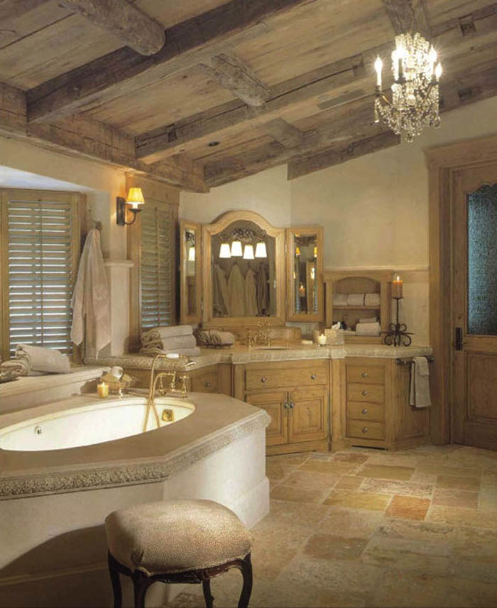 elegant and classy rustic traditional bathroom designs