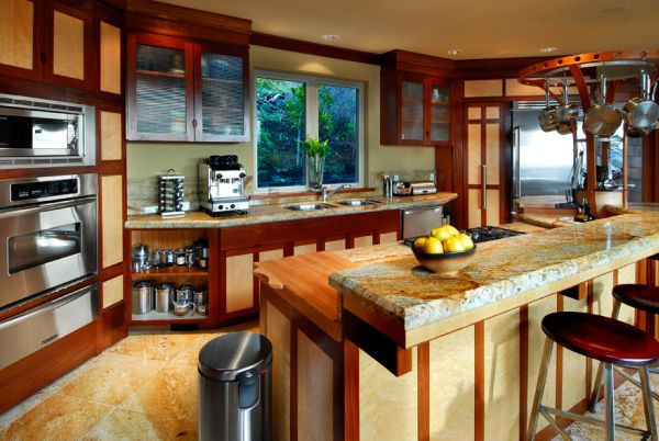 Extravagant-taste-of-Asian-kitchen-sets-in-wooden-kitchen-island-and-doors