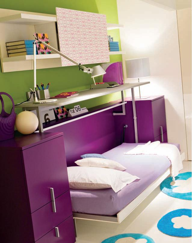 Foldable Bed Small Bedroom Idea