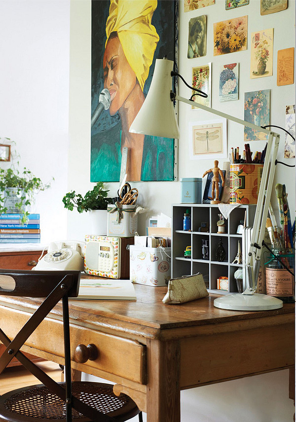 eclectic home office. French Eclectic Home In London Office F