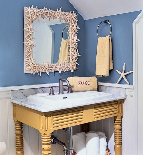 Graceful Beach Style Bathroom