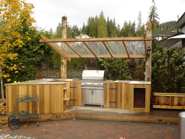 25 best traditional outdoor design ideas for Outdoor kitchen ideas small yard