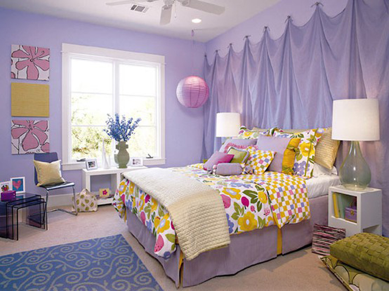 Lavender Bedroom At Awesome Colorful Bedroom Design Ideas