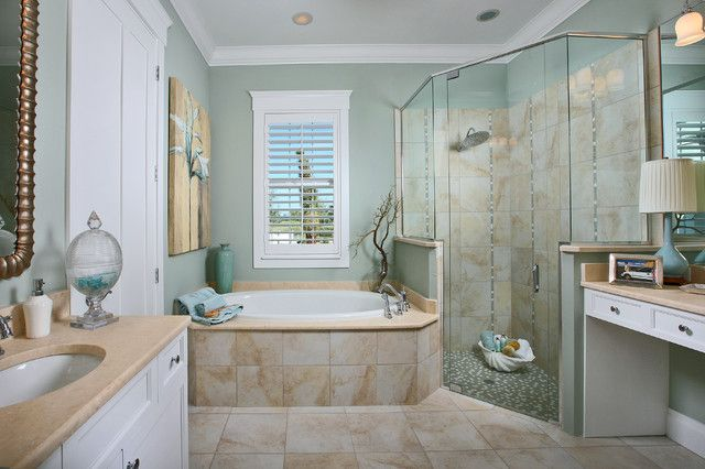 25 awesome beach style bathroom design ideas for Beach decor bathroom ideas
