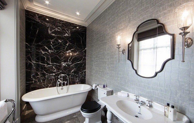 Ideas For Black And White Bathroom Part - 15: The Wow Decor