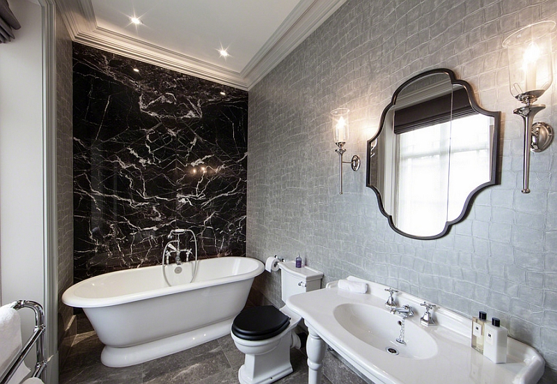 Luxe Silver Wallpaper In The Black And White