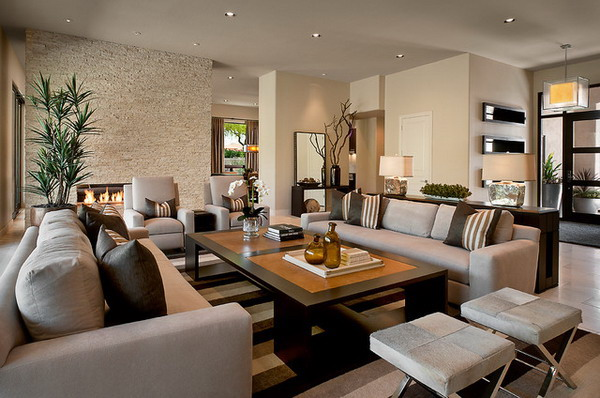 Luxury Living Room Ideas With Furniture Set