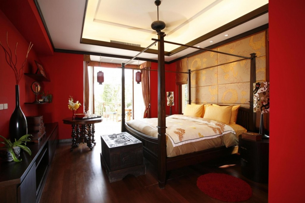 Merveilleux Luxury Red Asian Bedroom Design