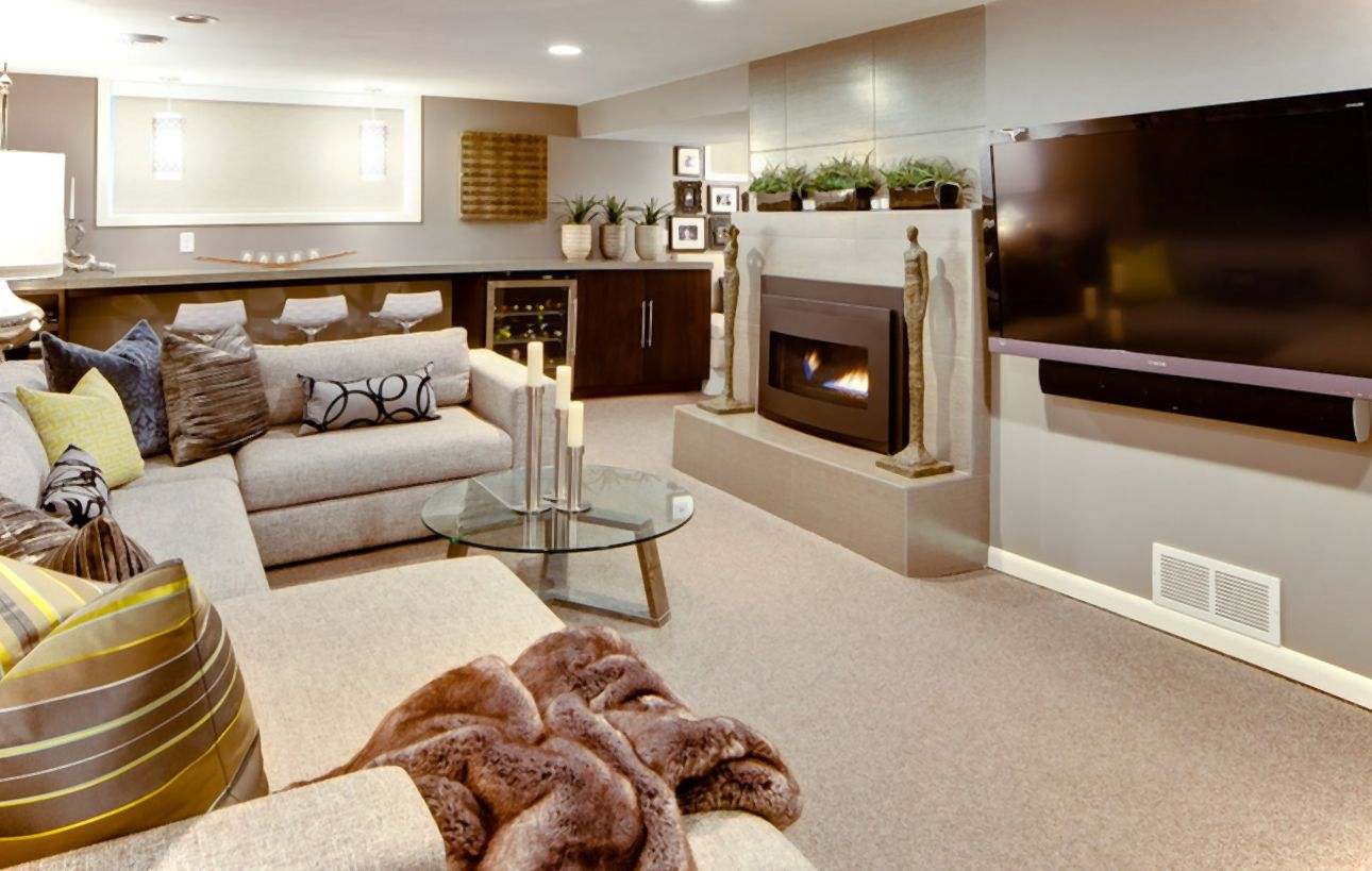 Modern-Basement-Finishing-Ideas-For-Living-Room