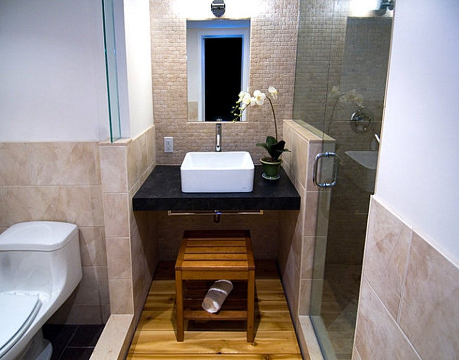 Modern Bathroom Design With Asian Style Image