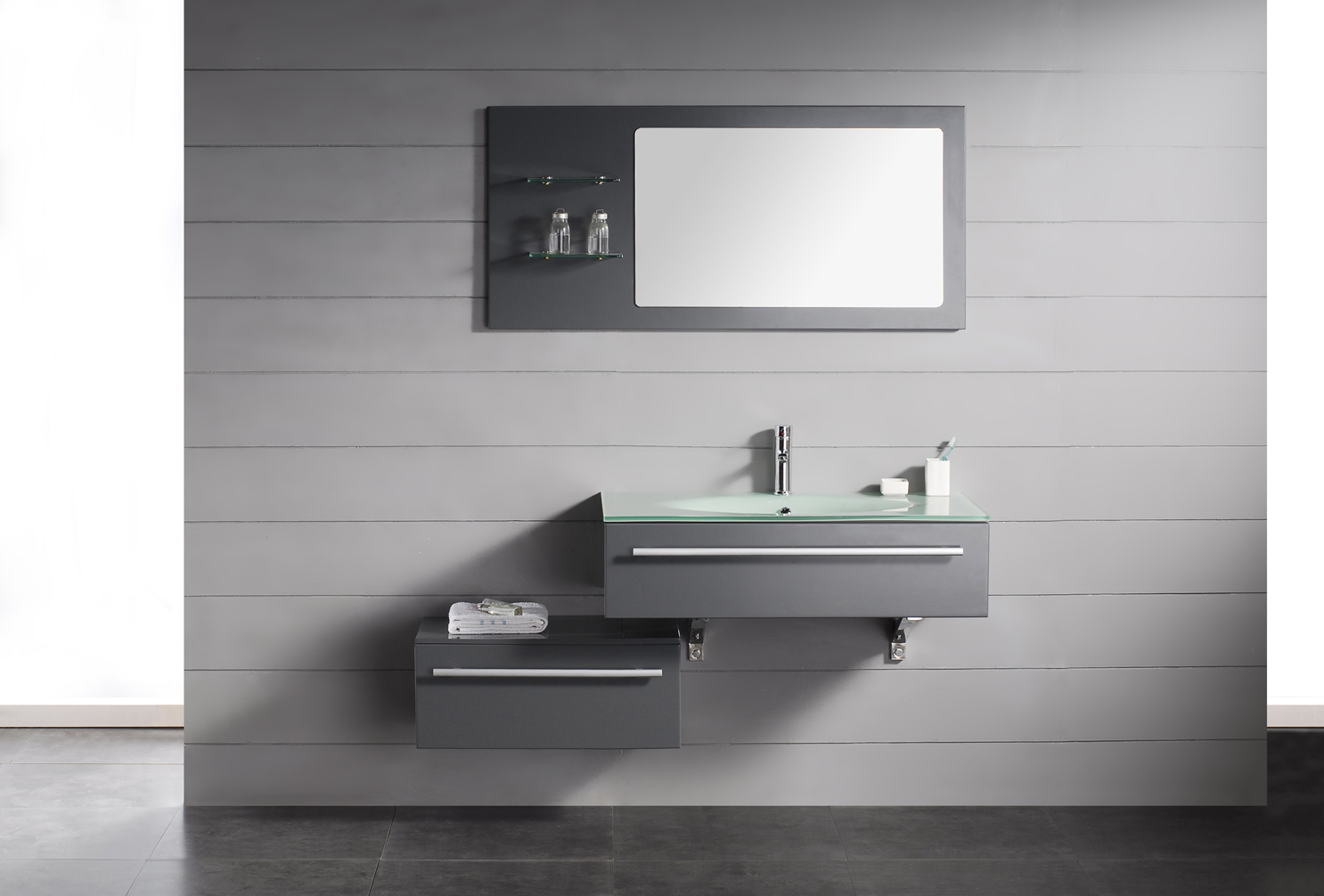 Modern-Bathroom-Vanities-Design-with-Wall-Mirror
