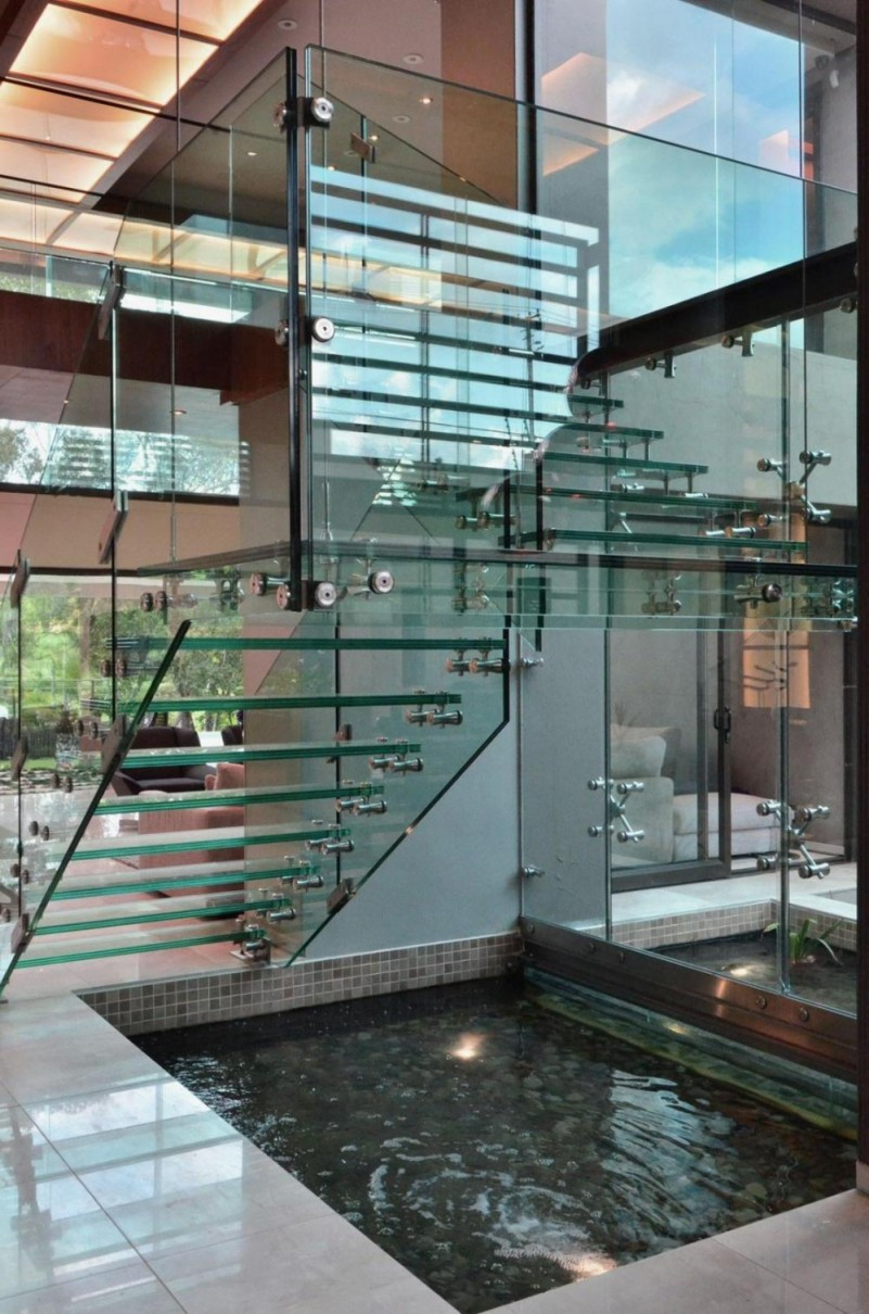 21 Staircase Lighting Design Ideas Pictures: 21 Beautiful Modern Glass Staircase Design